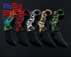 Claw Combat Folding Knife Outdoor Survival Fishing Hunting Camping Knives  US