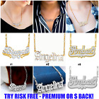 Kyпить Personalized Double Plated 925 Sterling Silver 24K Gold Plated ANY NAME Necklace на еВаy.соm