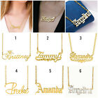 Personalized ANY NAME 14K Gold Plated Sterling Silver Necklace Pendant Chain NEW