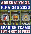 PANINI ADRENALYN XL FIFA 365 2020 ATLETICO MADRID FC BARCELONA REAL MADRID CARDS