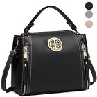 Women Top Handle Bag Pu Leather Crossbody Purse Small Classic Shoulder Handbag