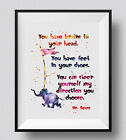 Dr. Seuss Quote Baby Shower Watercolor Print Nursery Decor For Kids Room Decor