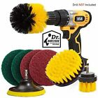 Set 8 Piece Drill Brush Attachment Set Scouring Pads Power Scrubber Brush Scrub