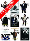 James Bond 007 Film Movie Poster Prints A3 | A4 Skyfall Daniel Craig £3.89 GBP on eBay