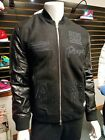 Brand New Mens Adidas Originals x Run DMC Bomber Jacket M64169 leather wool