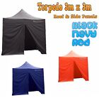 NEW Torpedo Heavy Duty POP UP Gazebo Roof & 4x Side Panels ONLY 3X3m, Waterproof