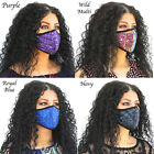Sequin Face Mask Women's Girls Bling Fashion Glitter Face Mask Mouth Cover
