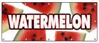 WATERMELON BANNER SIGN fruit stand farmers market farm picked juicy melon