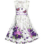 Kyпить US STOCK! Girls Dress Purple Butterfly Flower Sundress Party Size 4-12 на еВаy.соm
