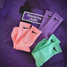 Unisex Crew Socks Two Styles Sport Gym Tennis Trainer Cotton Large Size Gift New
