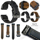 For Garmin Fenix 5 5X 5S Plus 6S 6X Pro Leather Quick Release Strap Watch Band