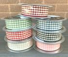 Ribbon - Gingham Natural Colours / Ivory Check - 10mm, 15mm, 25mm