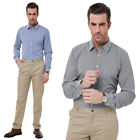 1x Men's Stylish&Slim Fit Casual Grid Pattern Long-Sleeve Shirt Tops S~2XL Gift