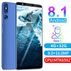 "5.72"" Unlocked Android 8.1 Cell Phone Dual Sim 4g+32g Quad Core Cheap Smartphone"