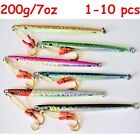 """1-10 pcs 200g /7oz  9"""" Speed Vertical Knife Butterfly Jigs Saltwater Fish Lures"""