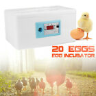 20 Eggs Automatic Digital Incubator Poultry Chicken Hatcher Temperature Control