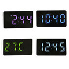 New Digital Clock Led Large Display USB Alarm Modern Mirror Clock Table Bedside