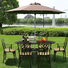 Outdoor Cast Aluminium Garden Furniture Set Patio Table And Chairs Bistro