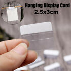 Clear Transparent Plastic Adhesive Jewelry Tags Hanging Display Cards 2.5x3cm