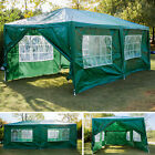 3x6m Garden Gazebo Marquee BBQ Party Tent with 6 Side Panels, Fully Waterproof