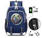 Star Trek Backpack School Bags Bookbag with Charging Port and Lock Laptop