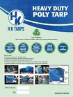 12 Mil Heavy Duty Poly Tarp 200 GSM All Purpose Canopy Reinforced Tarpaulin Wht