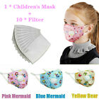 Cotton Face Mask For Kids, Washable And Reusable Protection Face Mask+filter Pad