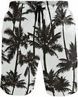 JERECY Men's Swim Trunks Musical Guitar Pattern Quick Dry Board Shorts with Draw