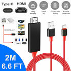 4K USB C Type C To HDMI Cable Phone To TV HDTV AV Adapter For Android Samsung LG