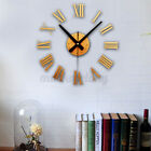 24 Wall Stickers Clock 3D Roman Numerals Round DIY Modern Style Home Room Decor