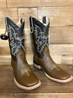 Men's Rodeo Cowboy Genuine Leather Boots Square Toe