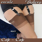 RHT seamless Bolero stockings by Envoile, brown, French vintage style 100 nylon