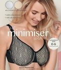 Avon Jacquard Minimiser Bra - White, Black or Nude - sizes 36E - 42G
