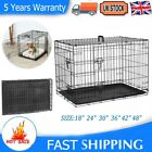 DOG CAGE PUPPY TRAINING CRATE PET CARRIER FOLDING TRAINING METAL TRAVEL KENNEL