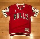 MITCHELL AND NESS CHICAGO BULLS 1989 SHOOTING SHIRT AUTHENTIC GAME RED SZ S-4XL on eBay