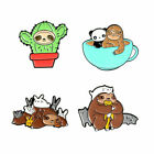 Fashion Lovely Enamel Pins Panda Sloth rabbit Cat Metal Badges Brooches Gifts