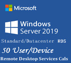 Windows Server 2019 Standard / Datacenter | RDS 50 User / 50 Device CAL
