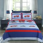 Fire And Police Rescue Boy 100%Cotton Quilt Set, Bedspread, Coverlet image