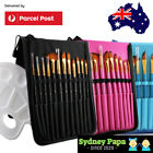 12pcsartist Paint Brush Setkit With Palette & Carrying Case Paint Brushes