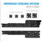 External Cooler 5 Fans Turbo Temperature Control Cooling Fan for PS4 Host