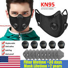 Reusable Sport Breathing Valve Face Mask Washable With Activated Carbon Filters