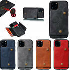 For Iphone 11 Pro Max Xs Se 2nd 6 7 8 Magnetic Leather Card Slot Back Case Cover
