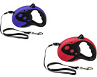 Retractable Dog Lead Pet Puppy Walking Exercise Leads Leash 10ft/3m RED / BLUE