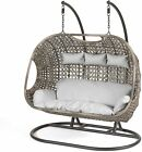 Triple Cocoon Egg Chair Rattan Wicker Garden Hammock Swing Fast Free Delivery