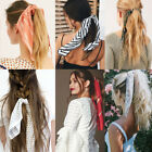 Kyпить Satin Ponytail Scarf Bow Hair Rope Ties Scrunchies Dot Floral Print Hair Bands на еВаy.соm