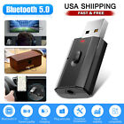 Wireless USB Bluetooth 5.0 3.5MM Aux Audio Adapter Transmitter Receiver TV PC