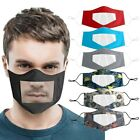 Kyпить Reusable Face Mask With Visible Lip Expression Clear Window Shield For Deaf Mute на еВаy.соm