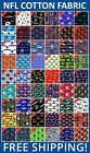 "NFL Sport All Teams Collection Cotton Fabric - 58-60"" Wide - Free Shipping!! $24.95 USD on eBay"