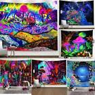 Hippie Trippy Psychedelic Tapestry Wall Hanging Blanket Art Home Decor Bedspread