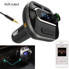 Wireless In-Car Bluetooth FM Transmitter MP3 Radio Adapter Car USB Charger IN US